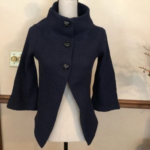 Piko for ModCloth navy blue bell sweater